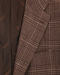 New $7200 Kiton Caramel Brown Cashmere Plaid Sportcoat - (KT1010177) - Parent