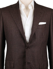 New $6600 Kiton Dark Brown Micro-Houndstooth Sportcoat - (KT901188217) - Parent