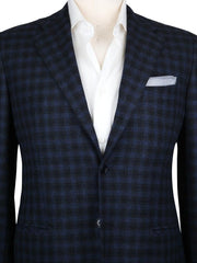 New $7200 Kiton Navy Blue Cashmere Check Sportcoat - (KT1012174) - Parent
