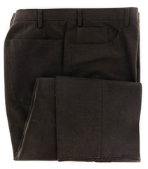 $800 Kiton Brown Solid Cotton Pants - Slim - 44/60 - (874)