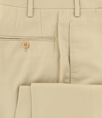New $1875 Kiton Yellow Solid Pants - Slim - (KT272405L7) - Parent