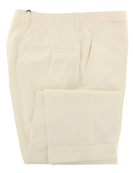 New $1450 Kiton Off White Solid Pants - Slim - (KT98286826) - Parent