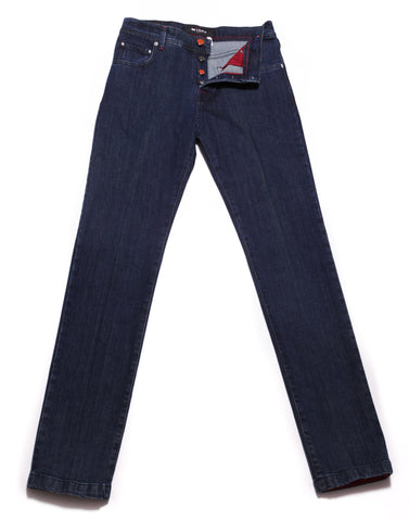 Kiton Denim Blue Jeans - Slim