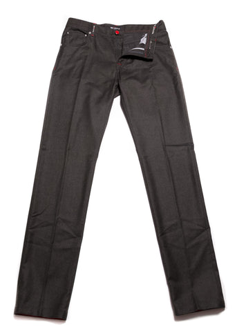 Kiton Charcoal Dark Green Pants