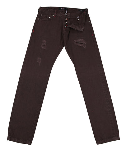 Kiton Brown Jeans - Slim
