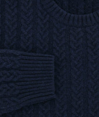 $1225 Luigi Borrelli Navy Blue Sweater - Size XS (US) / 46 (EU) - (08MG11900770)