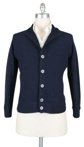 Luigi Borrelli Navy Blue Sweater - Size: Medium US / 50 EU