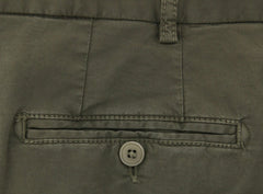 New $375 Luigi Borrelli Olive Green Pants - Slim - (10CLASSCERNP100151) - Parent