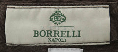 New $500 Luigi Borrelli Brown Pants - Extra Slim - 42/58 - (10SLIMCERNP02363)