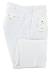New $400 Luigi Borrelli White Solid Pants - Slim - 38/54 - (P100110)