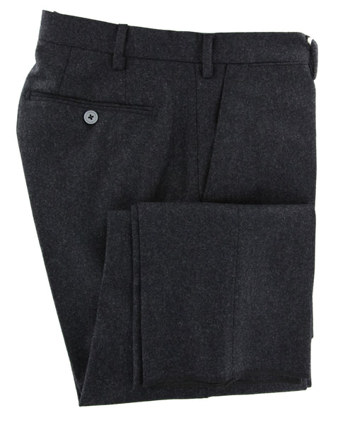 New $600 Luigi Borrelli Charcoal Gray Pants - Slim - (10SLIMCERNP130333) - Parent