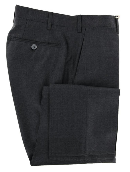 New $600 Luigi Borrelli Gray Solid Pants - Slim - (10SLIMCERNP130431) - Parent
