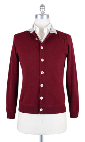 Luigi Borrelli Burgundy Red Sweater - Size: XX Large US / 56 EU