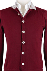 New $700 Luigi Borrelli Burgundy Red Sweater - Large/52 - (12MG13200315)