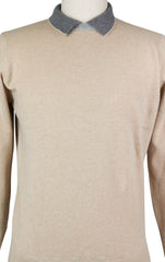 New $600 Luigi Borrelli Beige Wool Blend Sweater - XX Large/56 - (12MG13300305)