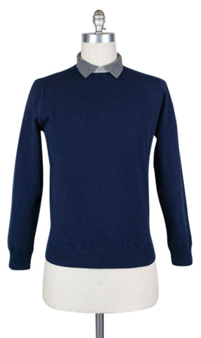 Luigi Borrelli Navy Blue Sweater - Size: XX Large US / 56 EU