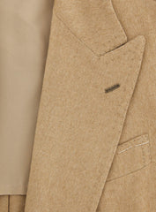 New $3600 Luigi Borrelli Beige Cashmere Solid Coat - 56/66 - (ALICUDI2029)