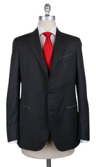 New $4200 Borrelli Charcoal Gray Wool Fancy Suit - 42/52 - (201803122)