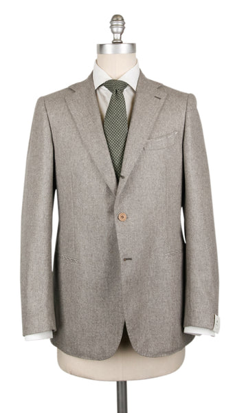 New $3600 Borrelli Gray Virgin Wool Solid Suit - (201803081) - Parent