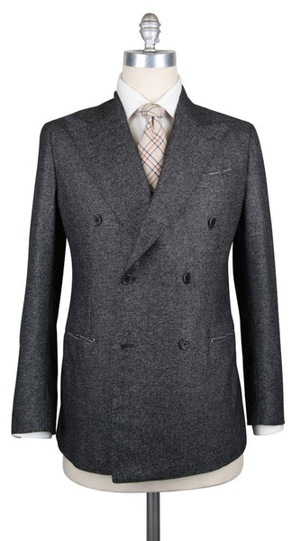 New $4500 Luigi Borrelli Dark Gray Wool Blend Suit - (LBAUDP133930R7) - Parent