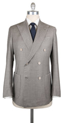 New $3900 Luigi Borrelli Gray Wool Blend Striped Suit - (LB200260R8) - Parent