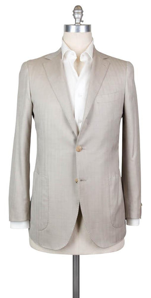 New $2700 Luigi Borrelli Beige Wool Blend Solid Sportcoat - 40/50 - (B4325975R7)