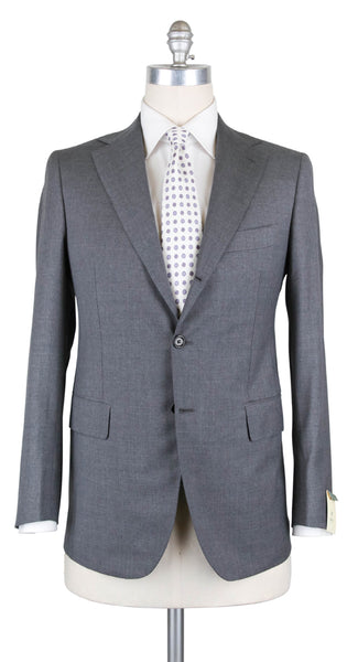 New $4500 Luigi Borrelli Gray Wool Solid Suit - 46/56 - (B90125414LIPARI7L)