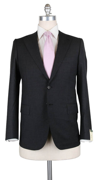 New $4500 Luigi Borrelli Charcoal Gray Wool Solid Suit - 44/54 - (B90125417)