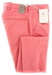 New $450 Luigi Borrelli Pink Pants - Super Slim - 33/49 - (CALABRITTO22210568)