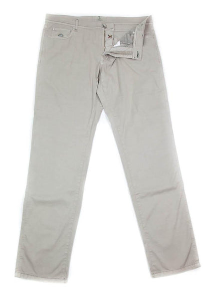 New $400 Luigi Borrelli Beige Solid Pants - Extra Slim - 42/58 - (CAM29310523)