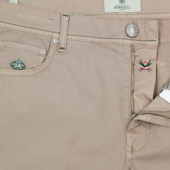 New $400 Luigi Borrelli Beige Solid Pants - Extra Slim - 42/58 - (CAM29510543)