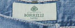 New $425 Luigi Borrelli Denim Blue Jeans - Extra Slim - ��34/50 - (CAR03211647)
