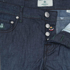 New $425 Luigi Borrelli Denim Blue Jeans - Extra Slim - 42/58 - (CAR07611570)