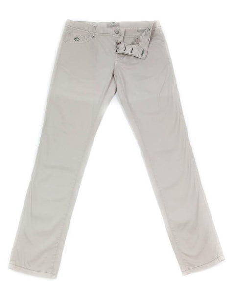 New $425 Luigi Borrelli Beige Solid Pants - Super Slim - 42/58 - (CAR2481530)