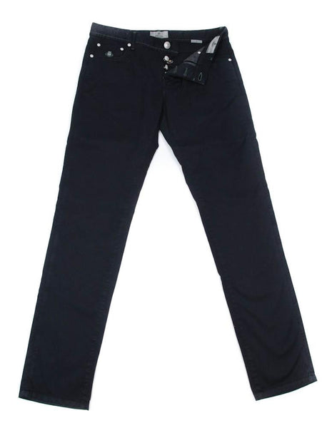 New $400 Luigi Borrelli Midnight Navy Blue Solid Pants - 38/54 - (CAR2931511)