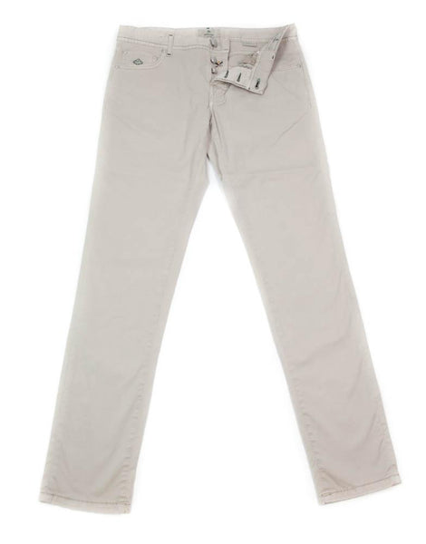 New $400 Luigi Borrelli Beige Solid Pants - Super Slim - 42/58 - (CAR2931530)