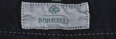 New $400 Luigi Borrelli Midnight Navy Blue Solid Pants - 33/49 - (CAR4051511)