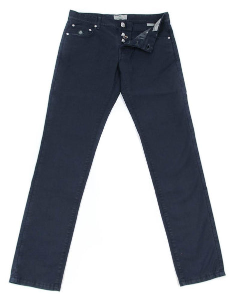 New $400 Luigi Borrelli Navy Blue Pants - Super Slim - 42/58 - (CAR4051591)