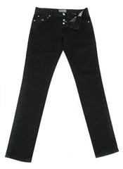 New $400 Luigi Borrelli Black Solid Pants - Super Slim - 33/49 - (CARJ0130090)