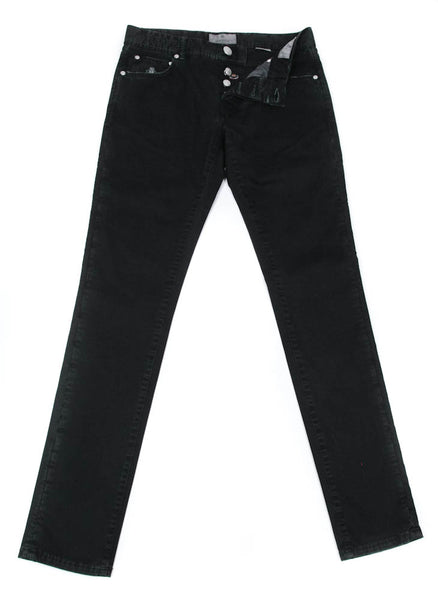New $400 Luigi Borrelli Black Solid Pants - Super Slim - 31/47 - (CARJ0130090)
