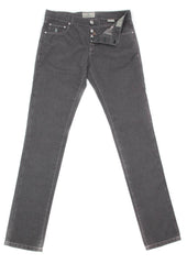 New $425 Luigi Borrelli Gray Solid Pants - Super Slim - 44/60 - (CARSS00711003)