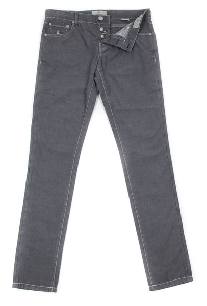New $425 Luigi Borrelli Gray Solid Pants - Super Slim - 34/50 - (CARSS00711041)