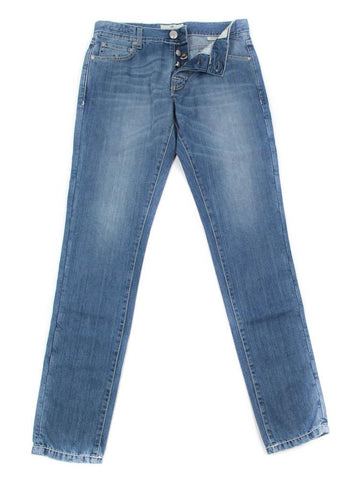 Luigi Borrelli Denim Blue Jeans - Super Slim - 34 US / 50 EU
