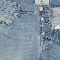 $425 Luigi Borrelli Denim Blue Jeans - Super Slim - 34/50 - (CARSS03311646)