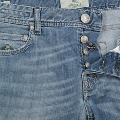 $425 Luigi Borrelli Denim Blue Jeans - Super Slim - 32/48 - (CARSS03311653)