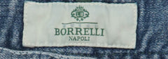 New $425 Luigi Borrelli Denim Blue Jeans - Super Slim -  36/52 - (CARSS14811652)