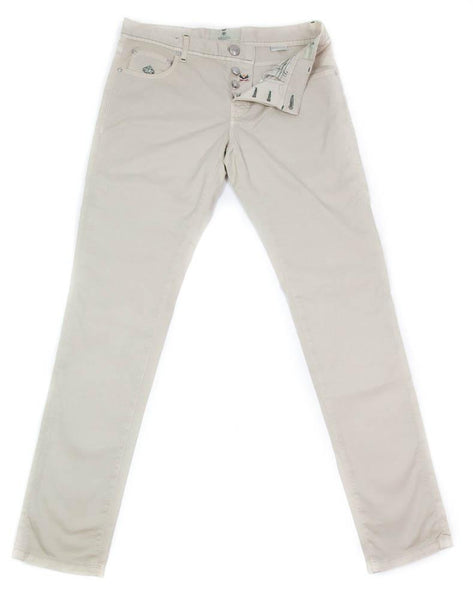 New $400 Luigi Borrelli Beige Solid Pants - Super Slim - 36/52 - (CARSS29310530)