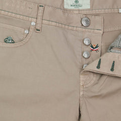 New $400 Luigi Borrelli Light Brown Pants - Super Slim - 33/49 - (CARSS29510543)