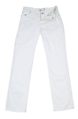 New $400 Borrelli White Solid Pants - Full - 30/46 - (CHIJ03010)