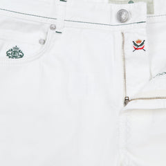 New $400 Borrelli White Solid Pants - Full - (CHIJ03010) - Parent